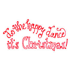 Happy Dance Rubber Stamp