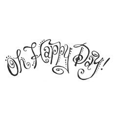 Happy Day Rubber Stamp From Great Impressions