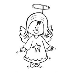 Little Angel Rubber Stamp