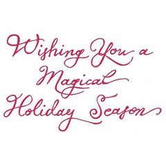 Magical Holiday Season Rubber Stamp