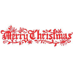 Old World Merry Christmas Rubber Stamp
