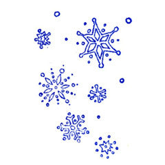 Falling Snowflakes Rubber Stamp
