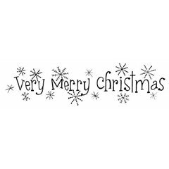 Very Merry Sparkles Rubber Stamp