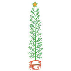 Christmas Pine Rubber Stamp