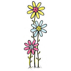 Growing Tall Flowers Rubber Stamp By Great Impressions