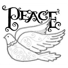 Dove of Peace Rubber Stamp