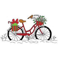 Winter Bicycle Rubber Stamp