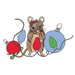 Christmas Mouse Rubber Stamp