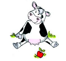 Cow with Apple