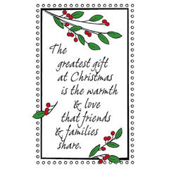 The Greatest Gift Rubber Stamp