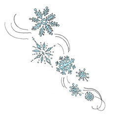 Snowflake Flurries Rubber Stamp