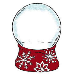 Christmas Globe Rubber Stamp