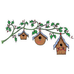 Bird Homes Rubber Stamp