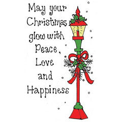 Christmas Lantern Rubber Stamp