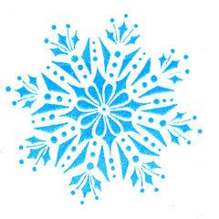 Winter Snowflake Rubber Stamp
