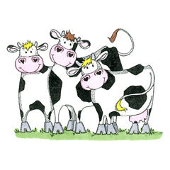 Three Cute Cows Rubber Stamp From Great Impressions
