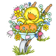 Springtime Louie Rubber Stamp From Great Impressions