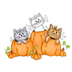 Kitties in Pumpkins