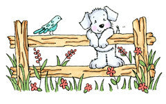 Cute Puppy on Fence