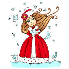 Christmas Gracie Rubber Stamp