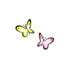 Flitting Butterflies Rubber Stamp By Great Impressions