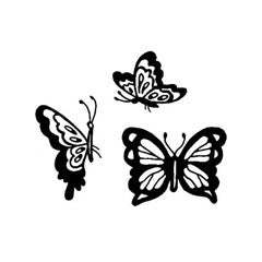 Butterfly Trio Rubber Stamp From Great Impressions
