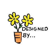 Designed By…Potted Flower Rubber Stamp