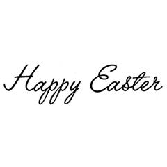 Cursive Happy Easter Rubber Stamp