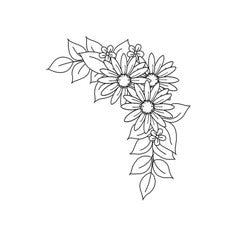 Daisy Corner Rubber Stamp From Great Impressions