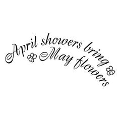 April showers Rubber Stamp From Great Impressions