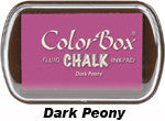 Fluid Chalk Dark Peony ColorBox Pad by Clearsnap