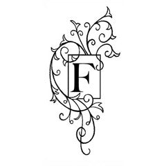 Monogram Flourish F Rubber Stamp From Great Impressions