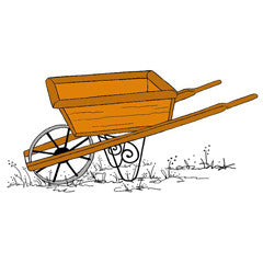 Wheelbarrow Rubber Stamp From Great Impressions