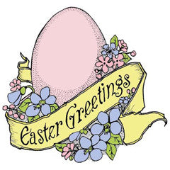 Easter Greetings Rubber Stamp