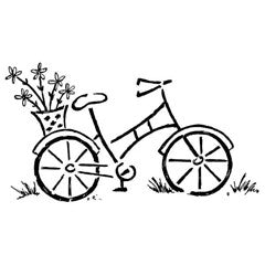 Garden Bicycle Rubber Stamp From Great Impressions