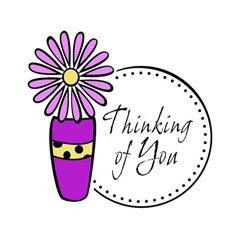Daisy Thinking of You Rubber Stamp From Great Impressions