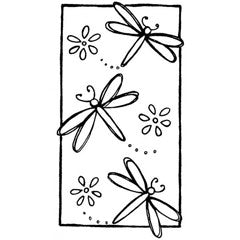 Dragonfly Dragonfly Rubber Stamp From Great Impressions