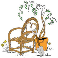Willow Chair Rubber Stamp From Great Impressions