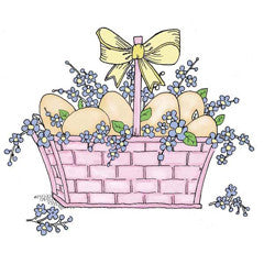 Easter Basket Rubber Stamp