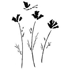 Wildflowers Rubber Stamp From Great Impressions