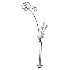 Flower Vase Rubber Stamp From Great Impressions