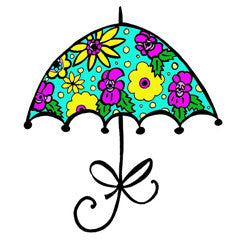 Spring Umbrella Rubber Stamp From Great Impressions