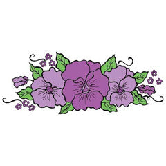 Pansy Bough Rubber Stamp From Great Impressions