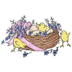 Easter Chicks Rubber Stamp