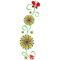 Daisy Border Rubber Stamp From Great Impressions