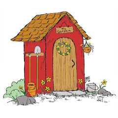 Garden Shed Rubber Stamp From Great Impressions
