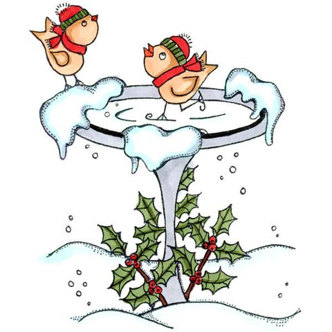 Christmas Bird Bath