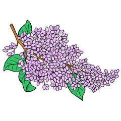 Lilac Blossoms Rubber Stamp From Great Impressions