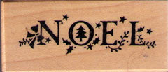 Noel Rubber Stamp