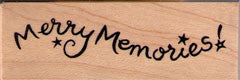 Merry Memories Rubber Stamp